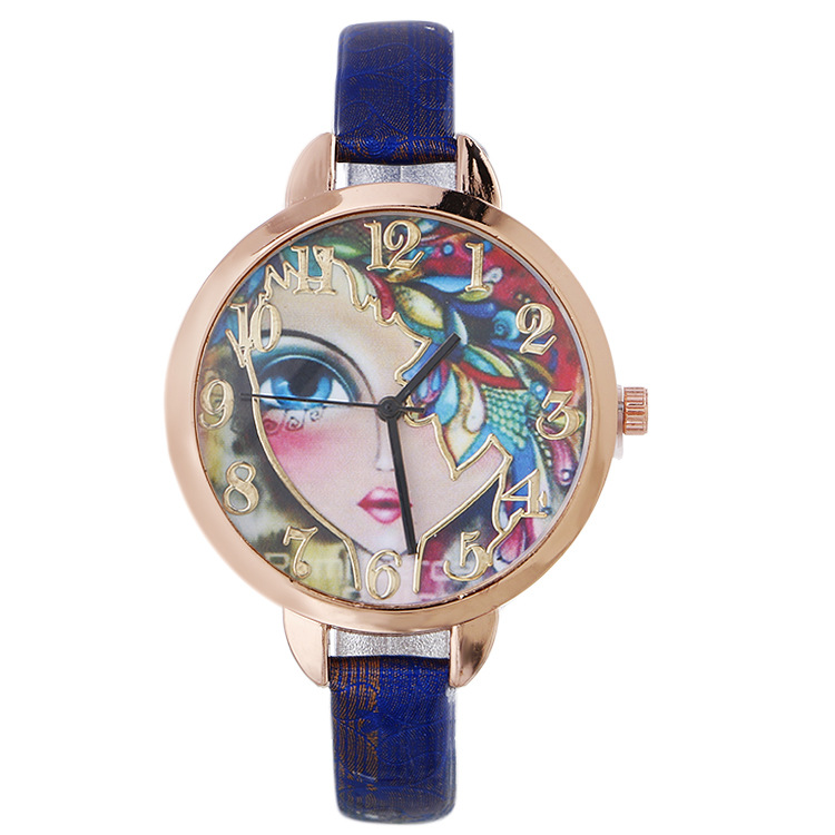 New printed strap with strap belt watch Foreign trade hot girl pattern ladies fashion watch шорты accelerate printed hot