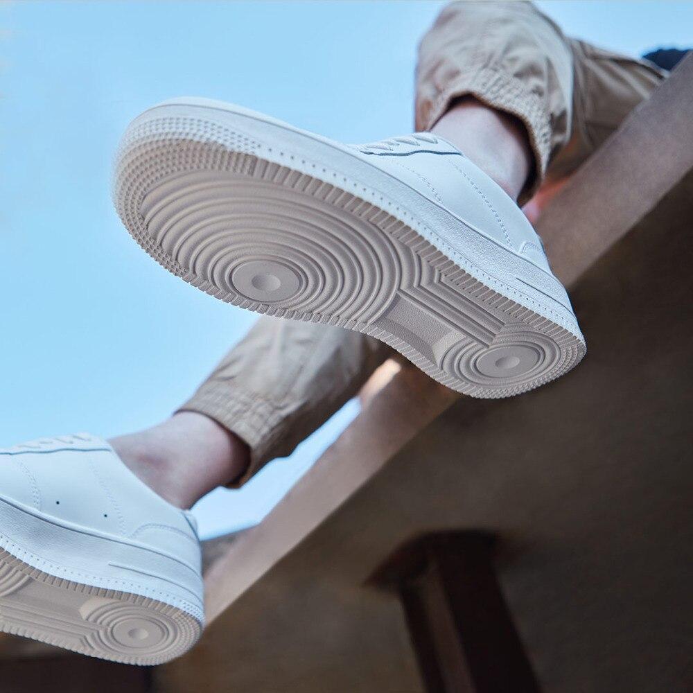 Xiaomi 90 повседневная мужская обувь для скейтборда, спортивные уличные кроссовки из воловьей кожи, нескользящая обувь, обувь на толстой плоско... - 5
