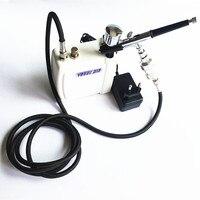 Kit aerógrafo con Mini Compresor de Aire Del aerógrafo Pistola Rociadora para pistola de Maquillaje Pintura Corporal Tatuaje Temporal 1 Unidades Envío gratis