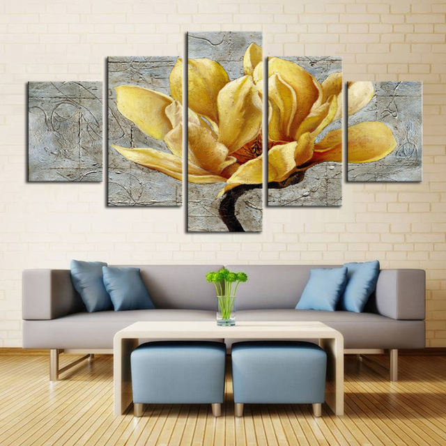 Beautiful canvas art single large flower paintings home decoration framed paintings oil painting big floral art