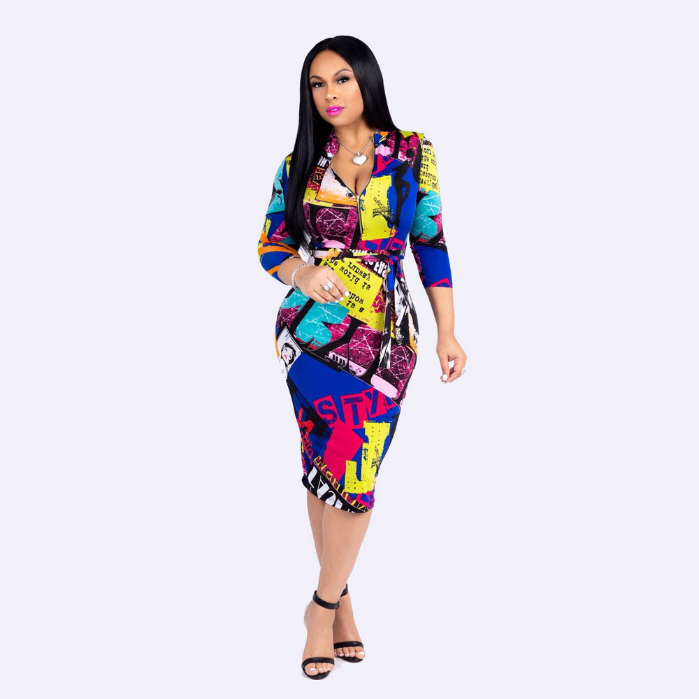 d279f5b9b614 Nueva moda 2016 mujeres Formal Bodycon vestido elegante Plaid manga ...