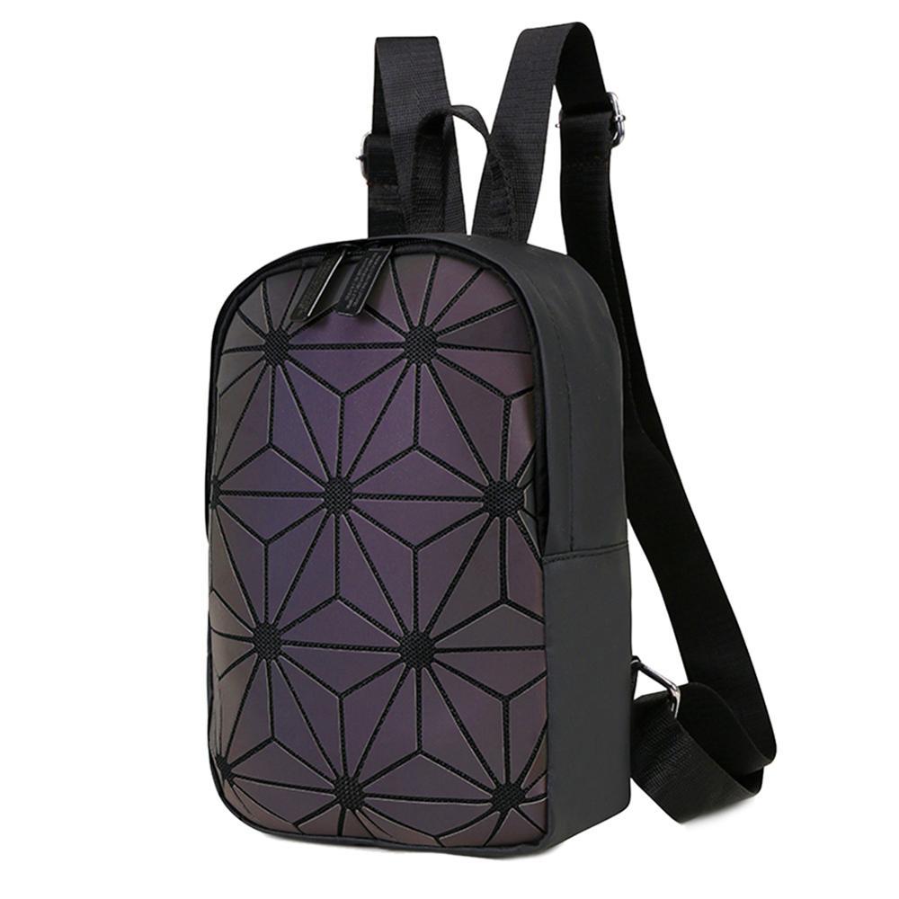 Female Fashion Laser Plaid Print Backpack Casula Women Girls PU Leather School Travel Knapsack Shoulder Bags For Women 2019 New