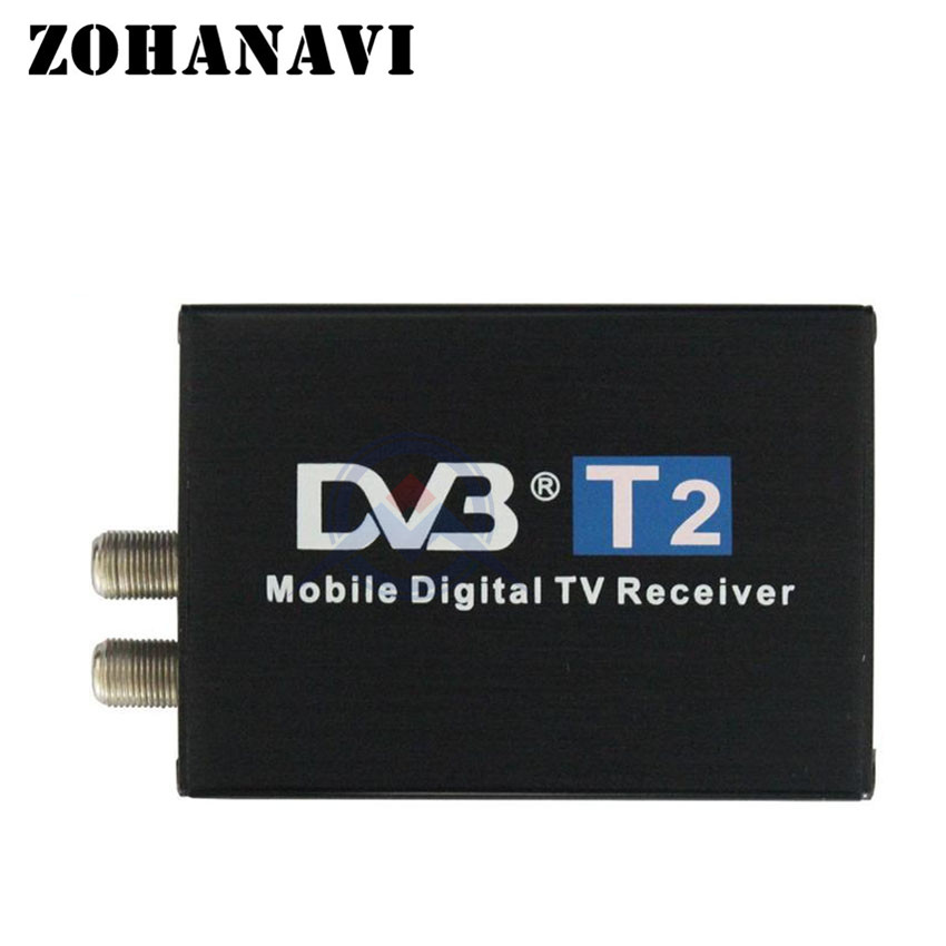 ZOHANAVI Digital TV Receiver car TV Tuner DVB T2 for Russian federation Thailand Viet Nam Southeast