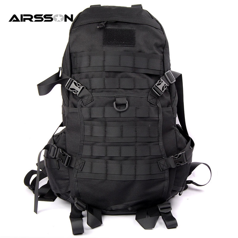 Airsoft 1000D Tactical Molle Every Day Carry Backpack w/Waist Belt Military Waterproof Nylon Adjustable Durable Men Shoulder Bag