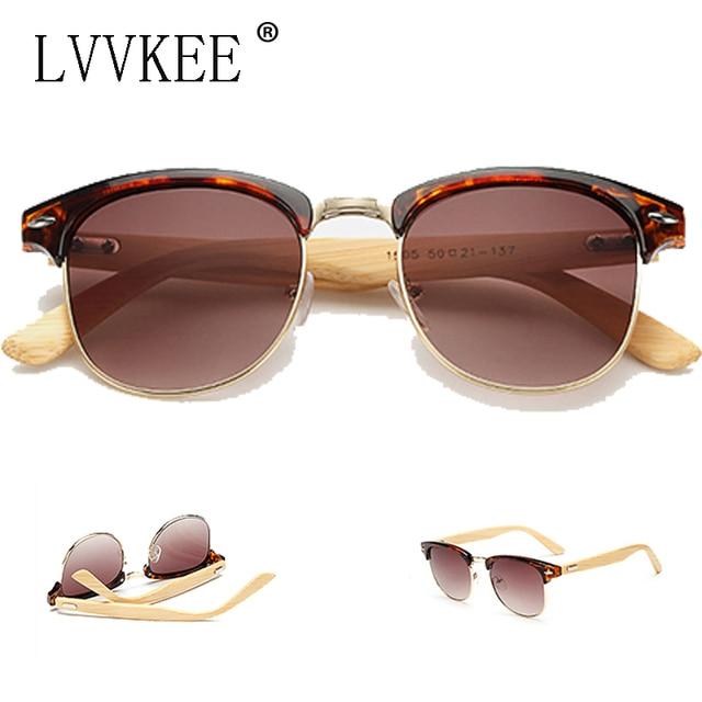 1a31b1ede0700 lvvkee new Casual Retro Wood Bamboo Sunglasses Men Women Brand Designer  club Gold Mirror oculos de