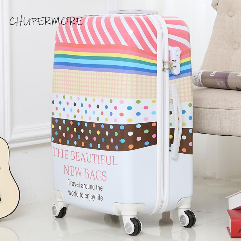 Chupermore Fashion Creative Rolling Luggage Spinner Men Suitcase Wheels 20 Inch Women Carry On Travel Bags Password Trolley