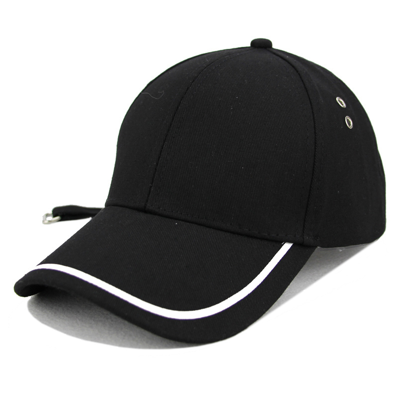 Women's Cap Snapback sun Dad Hat For Men Women Metal Ring Long Ribbon Baseball Cap Female Bone Male Hip Hop Long ribbon Hat women cap skullies
