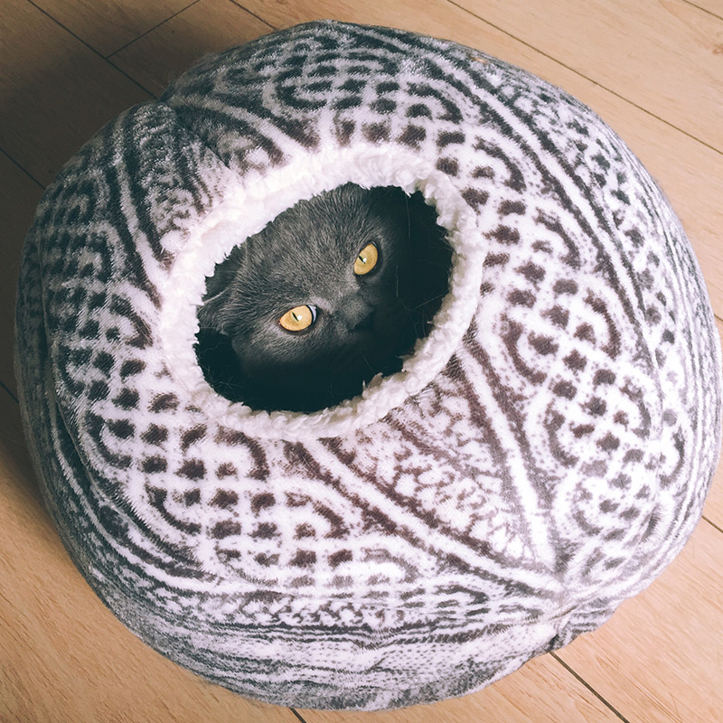 [mpk Cat Beds] Spherical Cat House With Round Opening, Your Cat Will Love It! Cat Playhouse, Cat Toy #3