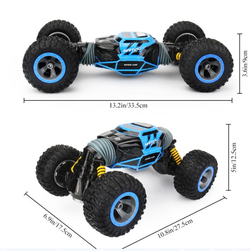 1/16 4WD électrique RC dérive voiture Rock chenille télécommande jouet 2.4G radiocommandé 4x4 conduire hors route voiture jouets pour garçons cadeau - 4
