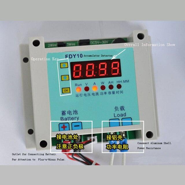 Fdy10-h Универсальный Батарея тестер емкость детектор разряда Checker Батарея тестер емкость 1 В ~ 60 В 0.1-10A