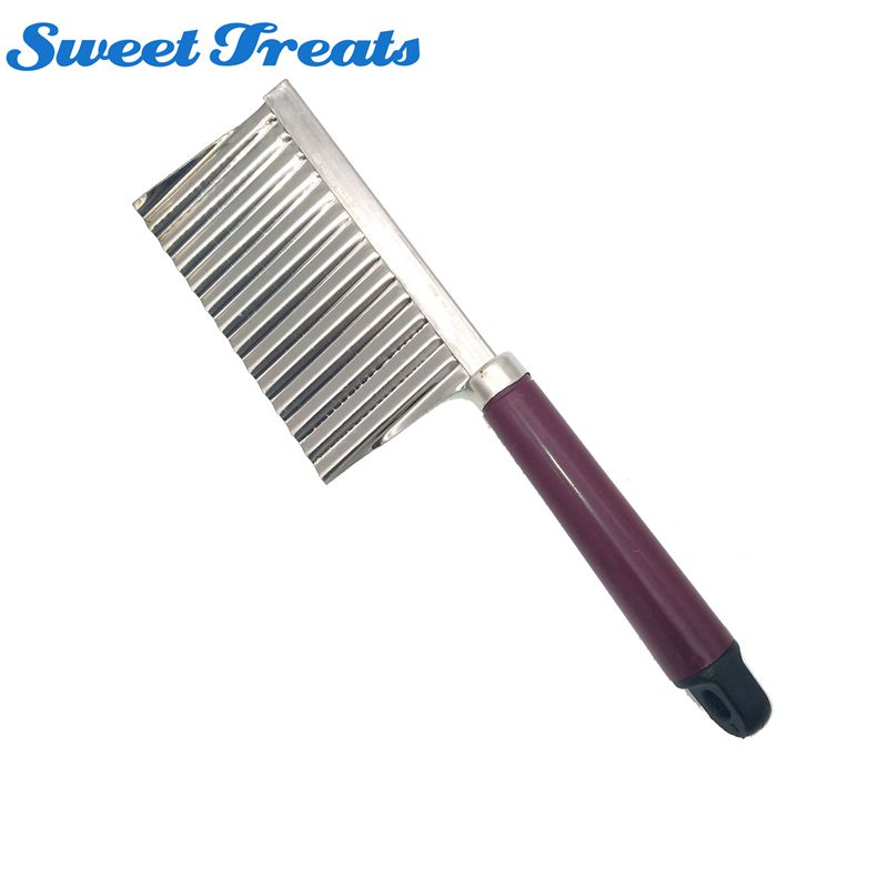 Sweettreats Vegetable Carrot Blade Potato Crinkle Wavy Cutter Slicer Stainless Kitchen Accessories Tools