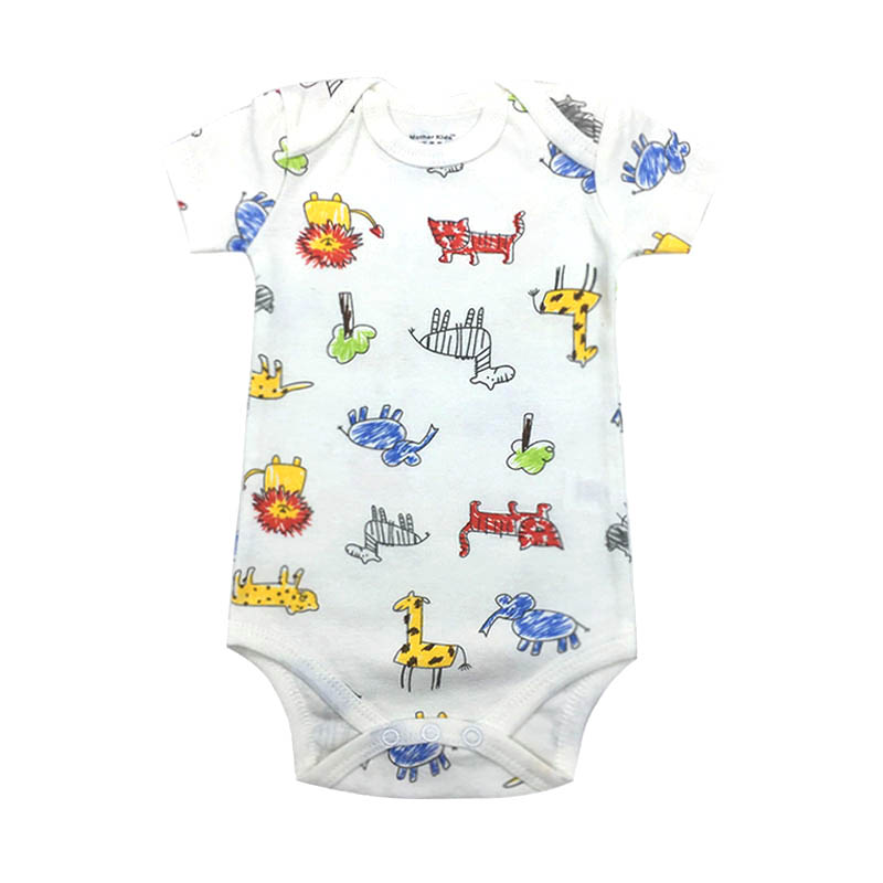 Baby Boy Girl Bodysuits 100 Cotton Infant Body Short Sleeve Clothing Similar Jumpsuit Printed Baby Clothes in Bodysuits from Mother Kids