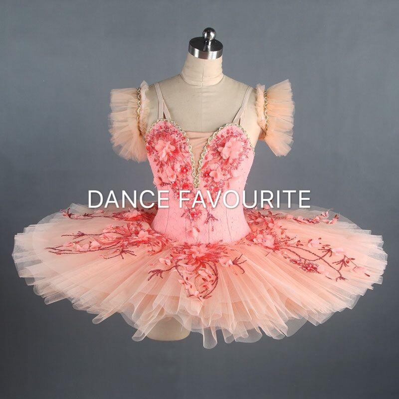 Pink professional dance costume ballet tutu ballerina classical pancake tutu girl & women customer size ballet tutu