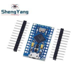Image 4 - פרו מיקרו ATmega32U4 5V 16MHz להחליף ATmega328 עבור Arduino Pro Mini עם 2 שורת פיני עבור לאונרדו מיני Usb ממשק
