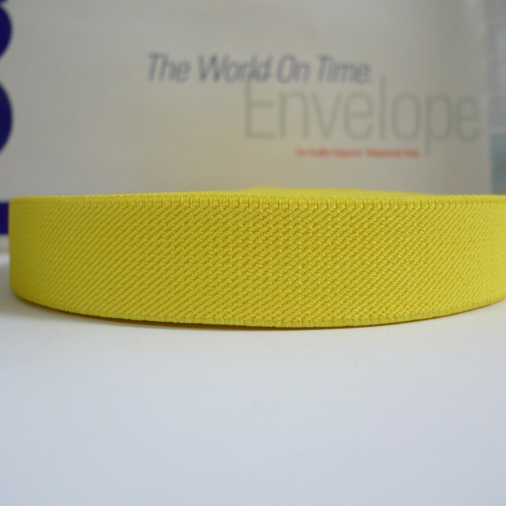 12 Meters 1 25mm Wide #020 YELLOW Color Suspender Elastic Webbing Great For Pacifier Clips