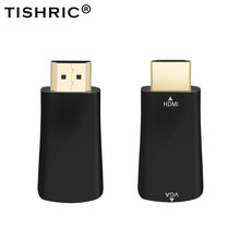 Tishric HDMI untuk VGA Converter Adaptor HDMI Vga HDMI Male To Female 1080P Monitor Kabel Video untuk PS3 XBOX 360 Analog(China)