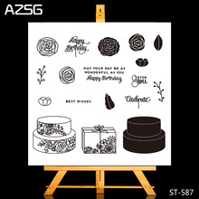 Cake box Clear Silicone Rubber Stamp for DIY Scrapbooking/photo Album Decorative Craft Clear Stamp Chapter