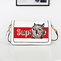 2019 Brand High Quality Faux Leather Embroidery Ladies Handbags New Blossom Shiny Women Elegant Tote Bags Large Capacity