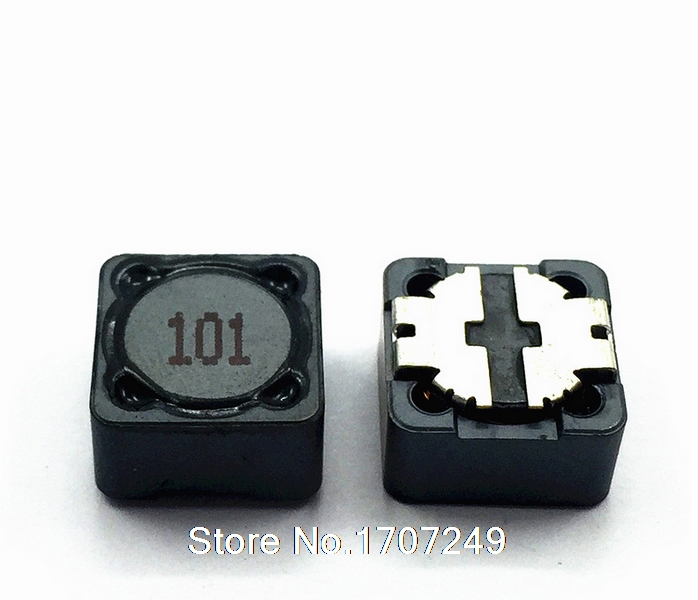 Free Shipping 100pcs/lot Shielded Inductor SMD Power Inductors cd127 100uh 101marking 12*12*7MM Best quality