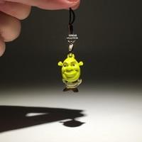 5pieces/lot 2.7cm pvc mini shrek pendant doll Bonsai toys Viewing figures play house Christmas gift