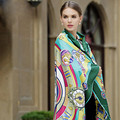 130*130 cm relógio roman Vintage sarja 100% lenço de cetim de seda lenços de pescoço toalhas de praia da mulher lenço verde azul amarelo