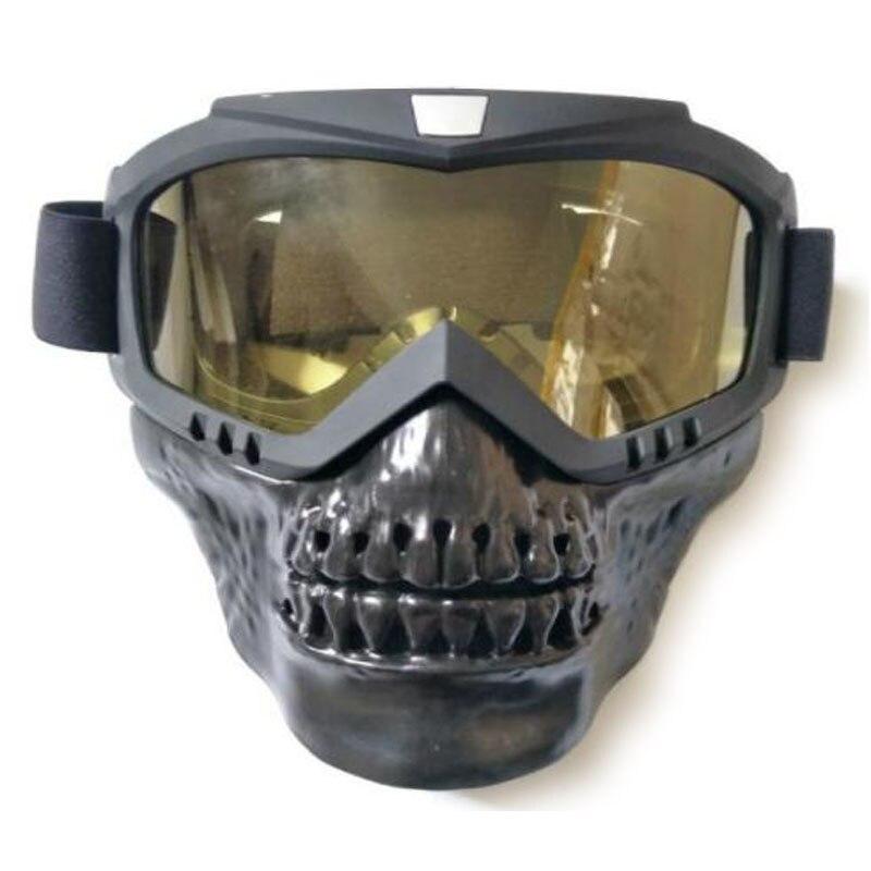 39d0bd38c7 De alta calidad de Moto de cuero Retro las gafas de motocicleta Lunette de  Motocross de