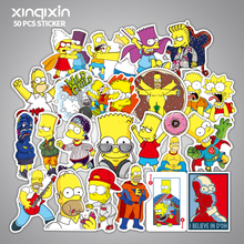50pcs Anime Cartoon Simpson Mixed Stickers For Laptop Sticker Decal Fridge Skateboard PVC