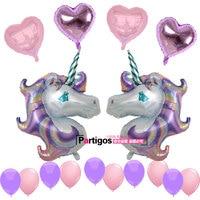 1 Zestaw Duży Fioletowy Jednorożec Balony Foliowe 18 cal Pearl serce Latex Balloon Ślub Birthday Party Decor Kids Zabawki Helem Ballon