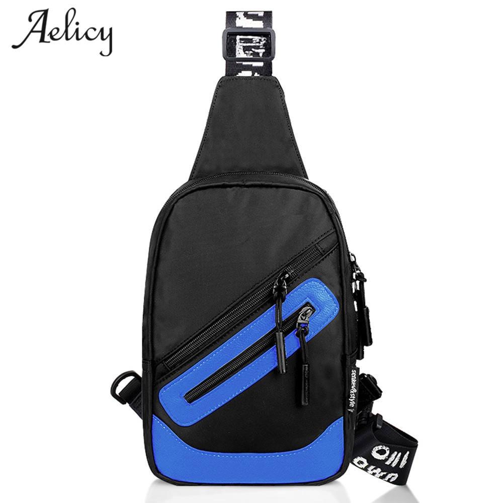 купить Aelicy luxury Crossbody Bags for Men Zipper Chest Bag Pack Casual Crossbody Bag Single Shoulder Strap Pack Travel Messenger Bag по цене 312.79 рублей