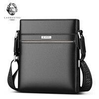LAORENTOU Genuine Leather Shoulder Bags for Men Casual Business Vintage Men's Bag Cow Leather Shoulder Bag Crossbody Bags
