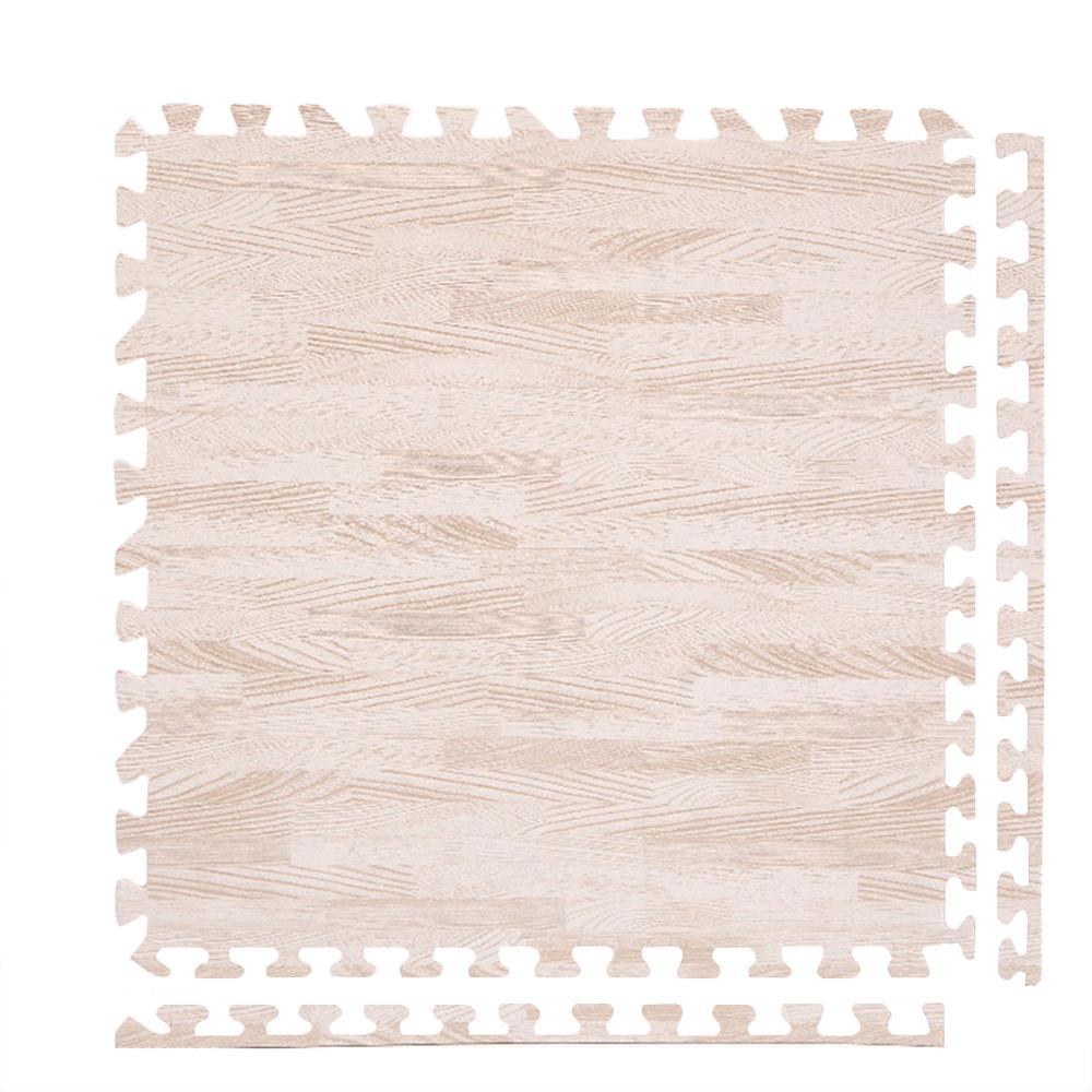 12 pièces 1/2 ''épais Grain de bois tapis de sol verrouillage EVA mousse revêtements de sol ensemble de protection pour la décoration intérieure