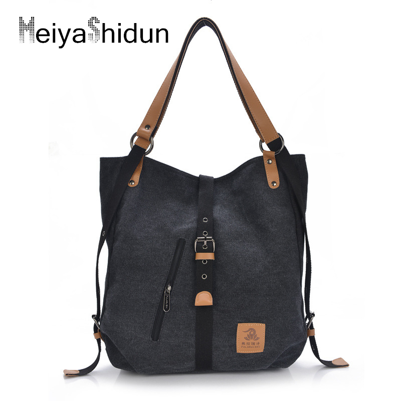 MeiyaShidun Women Handbags Drawstring Bucket Bag Casual Canvas shoulder Hand bagTotes Wome s Messenger Bags Satchel