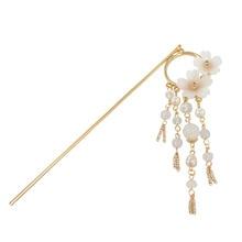 SANSUMMER 2019 Tassels Shell Flower  Pearl Women Jewelry Feautiful Romantic Young Girl Popular Elegant Hairwear 5157