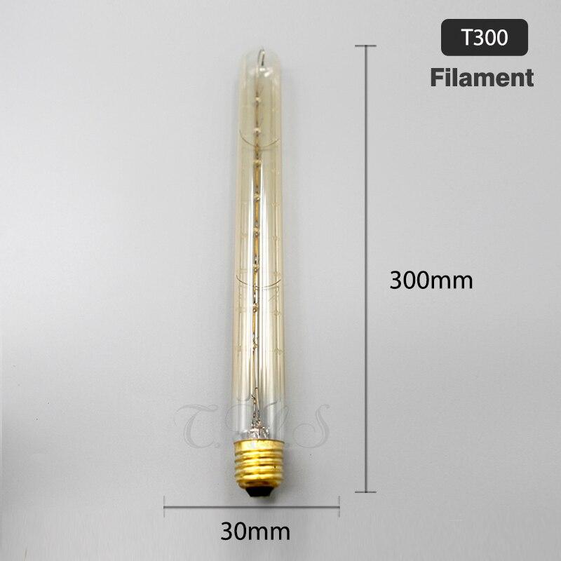 Lâmpadas Incandescentes retro luz decorativa Aplicação : Comercial