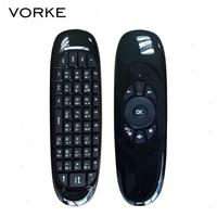 Russian English Thai Arabic C120 6 Axis Gyro 2 4G Mini Air Mouse QWERTY Keyboard For