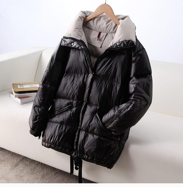 Bagomoto Winter Jacket Women 2018 High Quality Stand Waterproof Winter Coats Female Parka Warm Thicken  Down Jacket Outwear