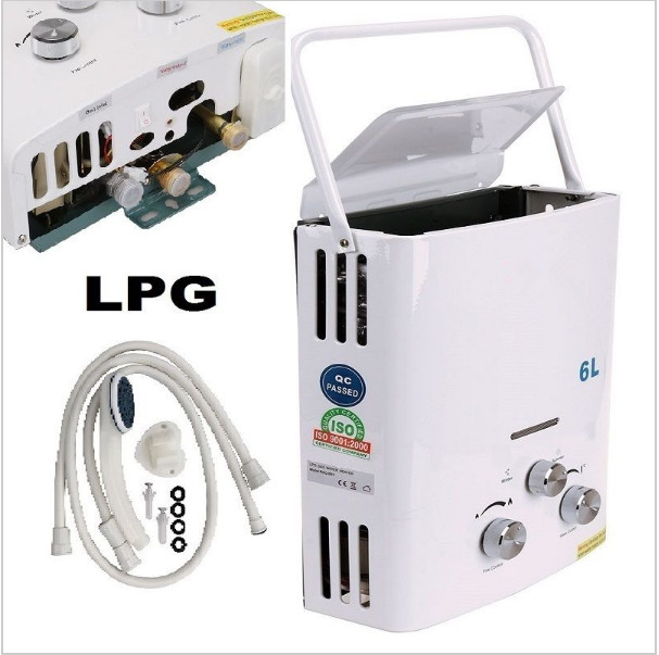 KOOBUY 6L LPG Gas Water Heater Hot Sales Time Limited For Thermostatic Tankless Instant Bath Boiler Shower Head 2018 hotsales 12l ce rohs lpg gas water heater hot sales time limited for thermostatic tankless instant bath boiler shower head