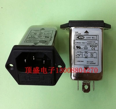 10 Ann 115/250VAC IEC insurance amplifier chassis socket type AC power line filter with filter CW2A-10A-T  цена и фото