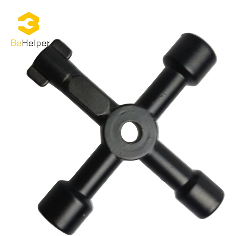BeHelper Universal Cross Switch Wrench Key Alloy Triangle Square Key Wrench for Train Electric Control Elevator Cabinet Valve ...