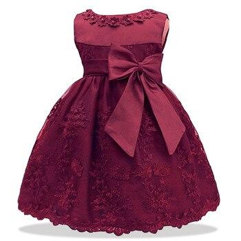 e4ce9f351 LZH bebé niñas vestido para niña de 1 año vestido de cumpleaños niños bebé  princesa vestido bautizo vestido de niño recién nacido ropa