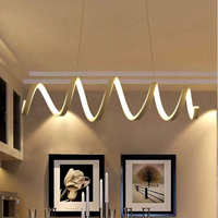 LuKLoy spirali zawieszenie wisiorek światła LED kuchnia światła LED wiszące lampy sufitowe lampy sypialni oświetlenie do salonu oprawa w Wiszące lampki od Lampy i oświetlenie na