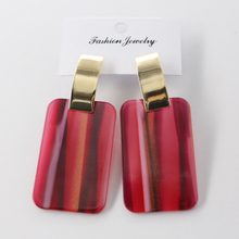 CHENFA stripe earrings fashion womens 2019  jewelry acrylic gift women