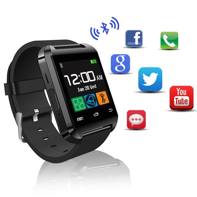 Hot android bluetooth smart watch u8 para apple watch ios android compañero  de Teléfono inteligente dz09 3bc7dc23357