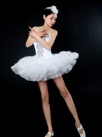 Free Shipping Sequin Performance Classical Professional Adult Ballet Tutu Dress White Ballet Dance Costume