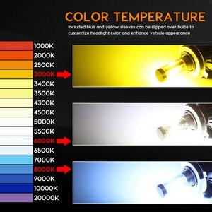 Image 4 - Zdatt H7 Led H1 led Bulb H4 LED Car Light H11 Light 100W 24V 12000Lm Fog lights 3000K 6000K 8000K Ice Bulbs Automoblies