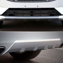 ABS Plastic Front&Rear Bumper Protector Skid Plate 2pcs For Volvo XC60 2018