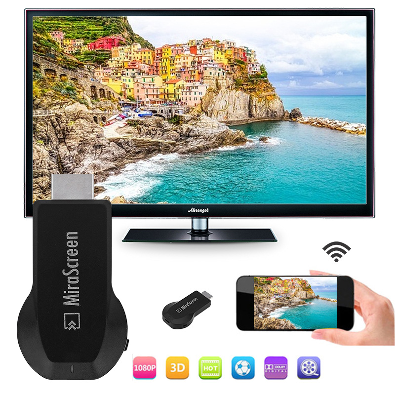 128 m mirascreen ota tv vara sem fio wifi display hd dongle receptor miracast para android apple iphone tv pk google chromecast