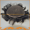 Бесплатная Доставка 8*10 дюймов полный швейцарский кружева узлы отбеливателя прямой волны Индийского реми волосы мужские тупею парики 1B # Естественный цвет с Волос