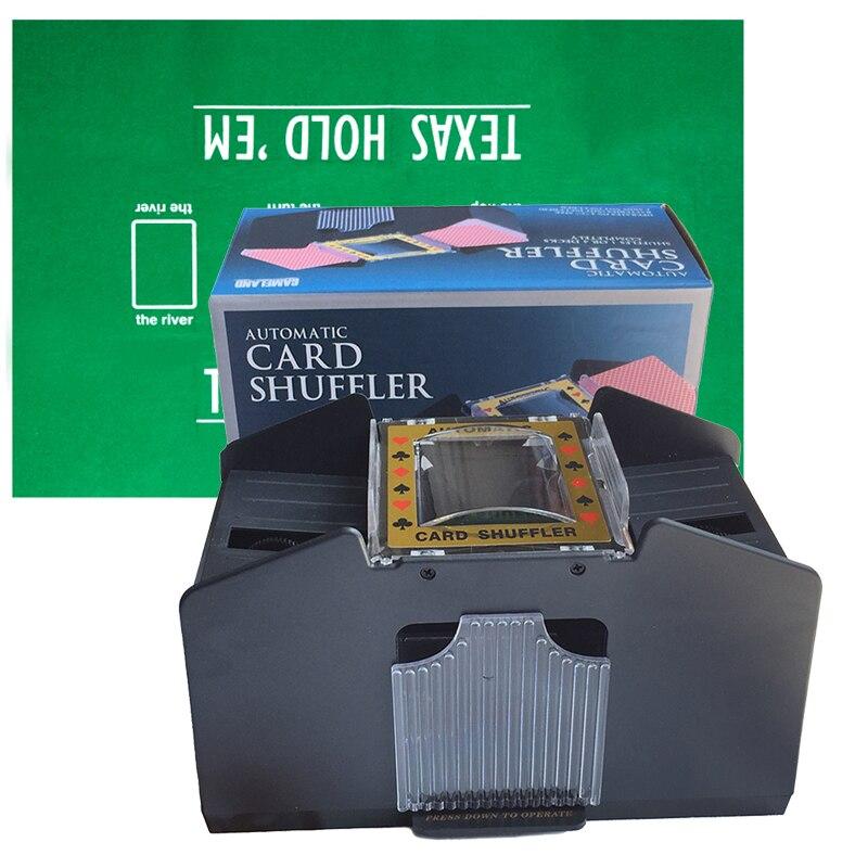 Automatique mélangeur De Cartes De Poker 4-pont Cartes À Jouer Brassage Machine Avec 60*90 cm Poker Table Tissu