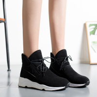 winter shoes women ankle boots warm lace up booties soft comfortable winter boots scarpe donna NA274